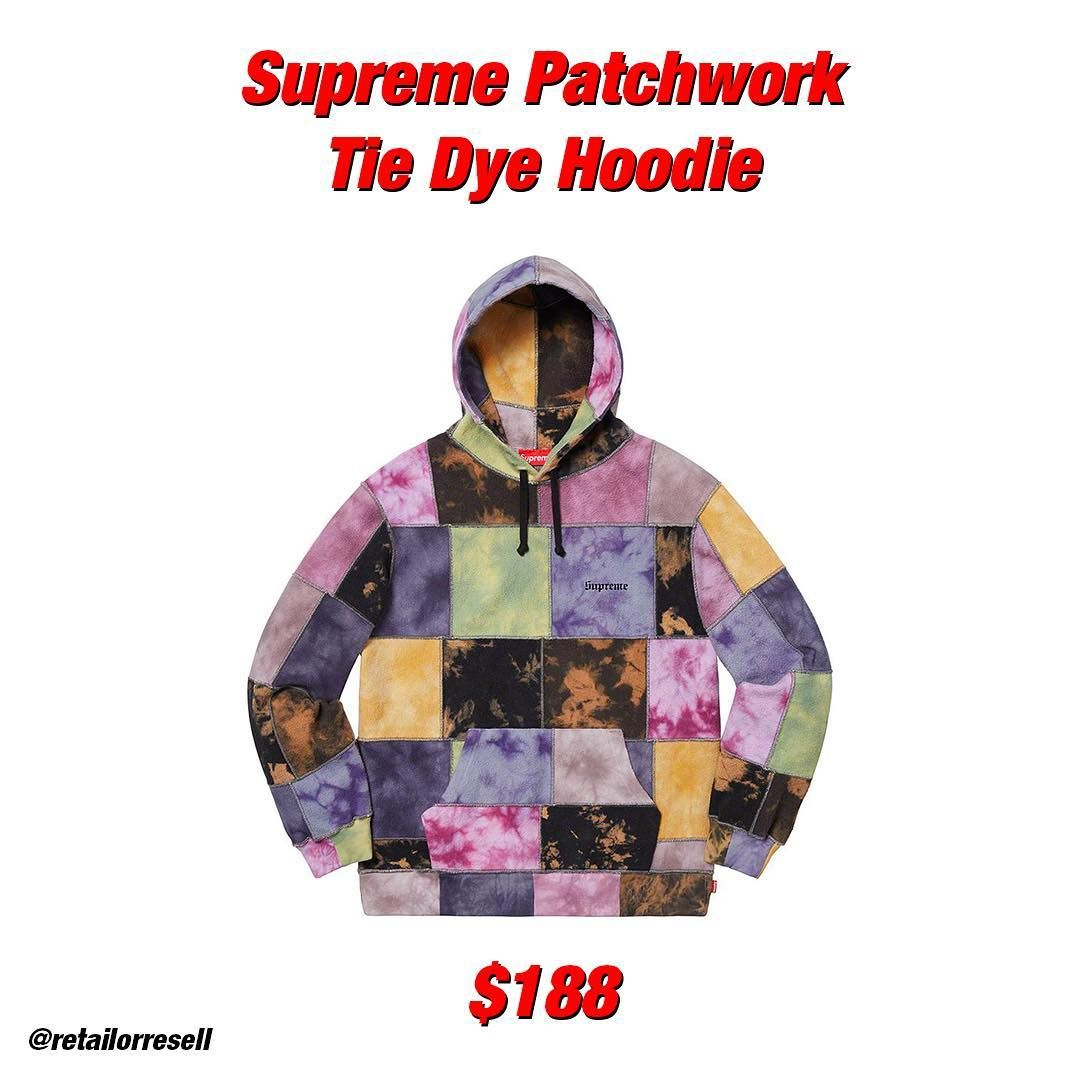 Supreme Patchwork Tie Dye Hoodie Prediction Is Here This Piece Is Very Hot Tell Us What You Think And If You Will Be Coppin Tie Dye Hoodie Hoodies Tie Dye [ 1080 x 1080 Pixel ]