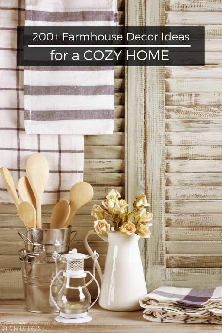 Cozy farmhouse decor ideas for a country style home