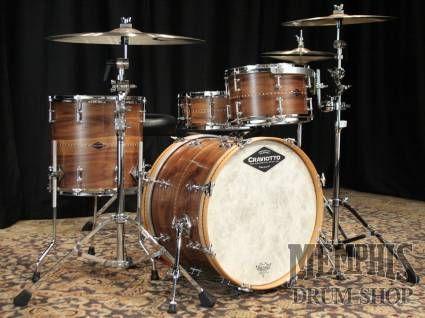 Craviotto Custom Shop Walnut Solid Shell Drum Set Natural Oil Drums Drum Kits Drum Shop