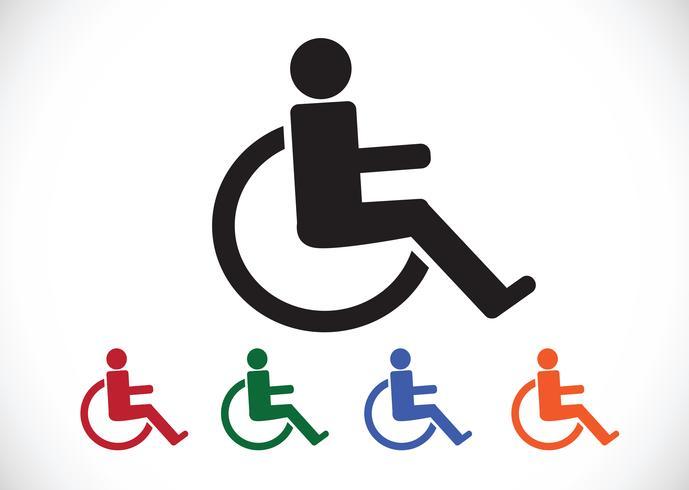 Wheelchair Handicap Icon Design Icon Design Free Vector Illustration Support Icon