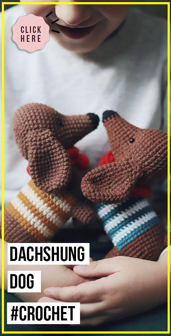 crochet Dachshung Dog easy pattern