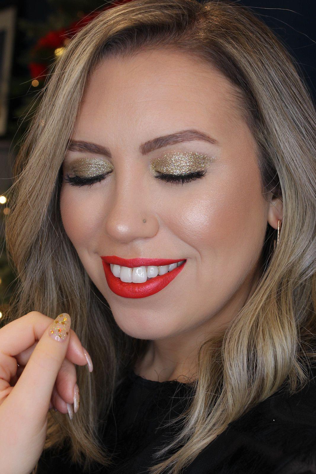 Holiday Makeup Monday Tutorial Gold Glitter Eyes