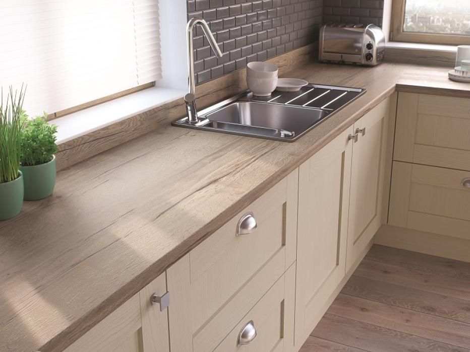 H1180 ST37 Natural Halifax Oak Worktop Kitchen
