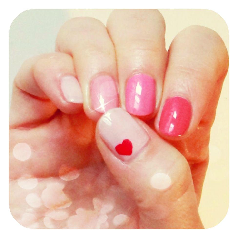 rózsaszín körmök, pink nails #nails #nailart #2014 #tavasz #spring ...