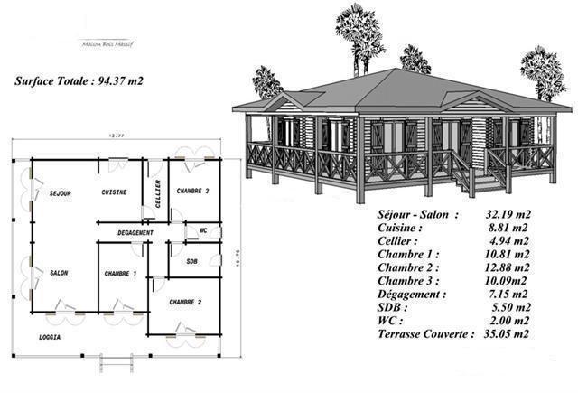 Maison Bois Pin Sylvestre Modele Gratuit | Modele Maison Antillaise