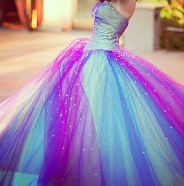 Blue and Purple Prom Dresses
