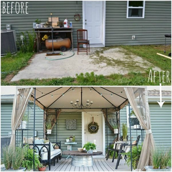 Before And After A Stylish And Thrifty Back Patio Makeover