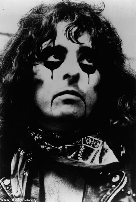 Image result for alice Cooper smudged makeup