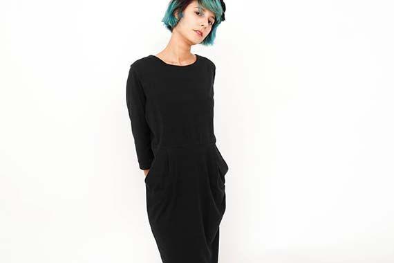 Negro abierto atrás vestido / / poco vestido negro / por ANNAKSHOP