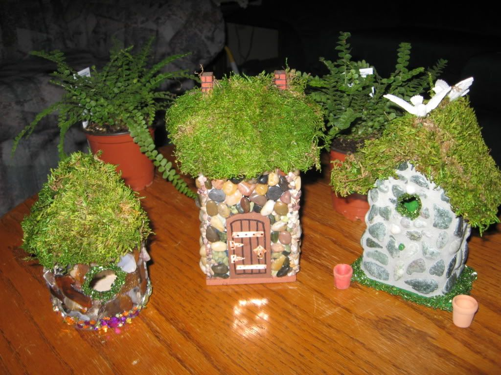 Homemade Fairy Houses Thinking I Could Make These With