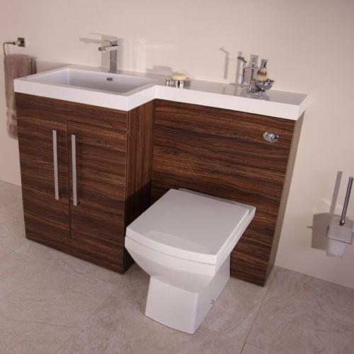 Walnut Modern Bathroom Furniture Toilet Wc Wash Basin Storage Combination Unit Bathroom Furniture Modern Toilet And Sink Unit Bathroom Furniture