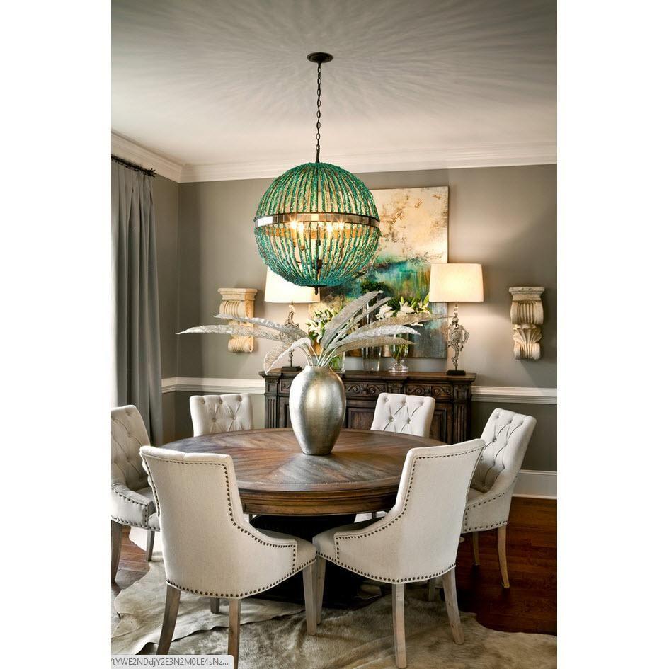 23 Dining Room Chandelier Designs Decorating Ideas: Alberto Orb Chandelier-5L