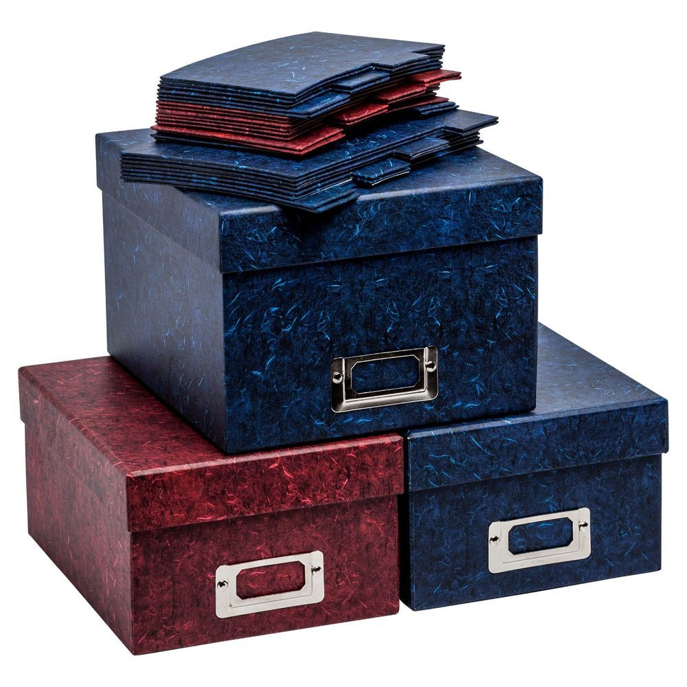 Details About Photograph Storage Boxes And Index Cards For Storing