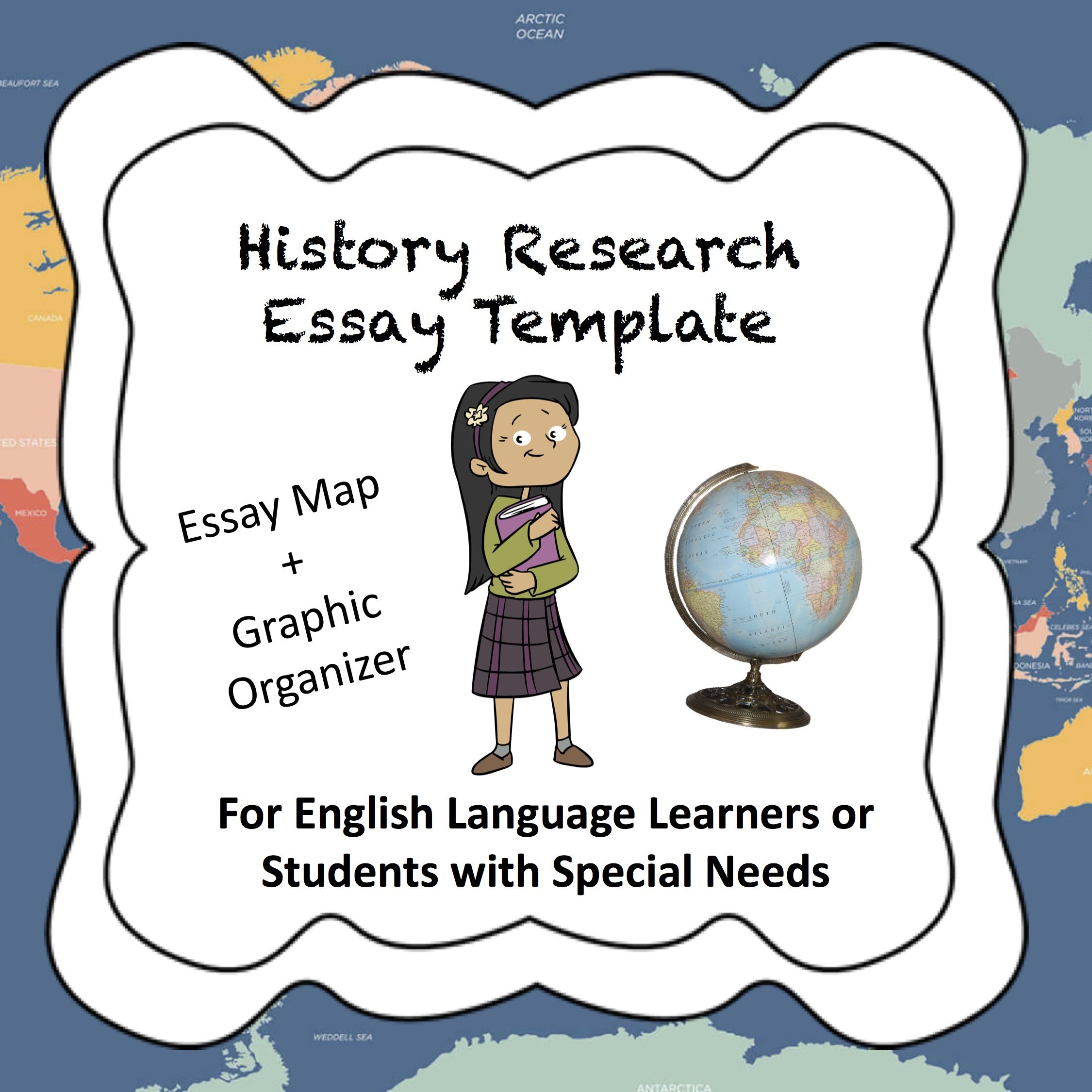 Historyresearch Essay Template For Ellsped  Special Education  This Is An Easytouse Essay Map For Special Education Or El Students