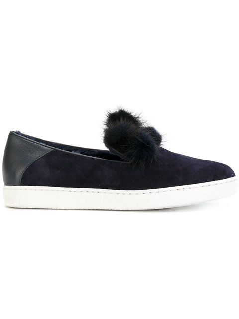 e3e03c73cd9 UNÜTZER pompom slip-one sneakers.  unützer  shoes