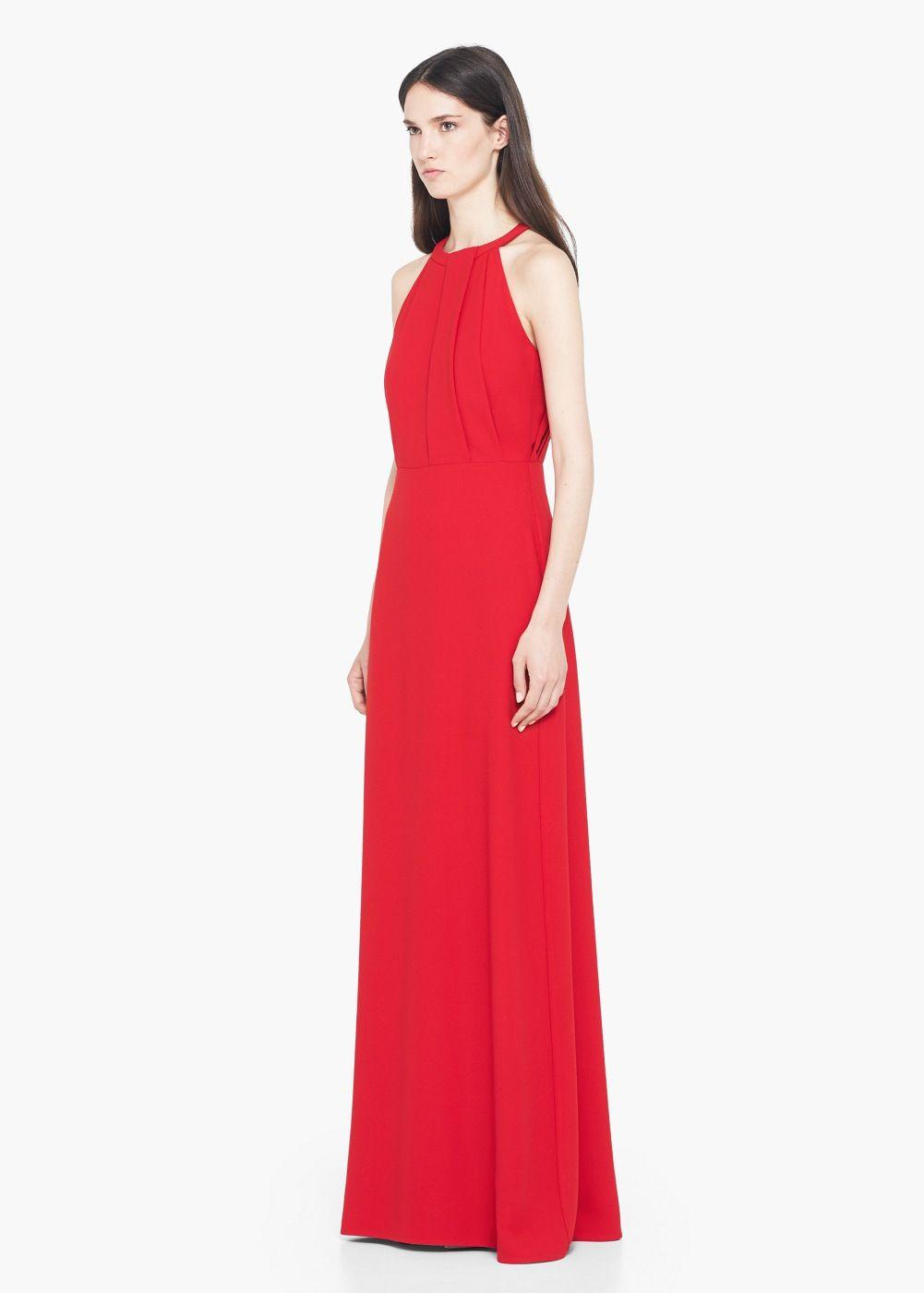 Vestido cuello halter - Mujer | MANGO | Pinterest | Vestidos ...