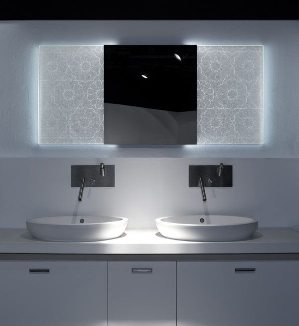 SELIN1 mirror Backlit Bathroom Mirrors With Holographic Effect by Elia Felices