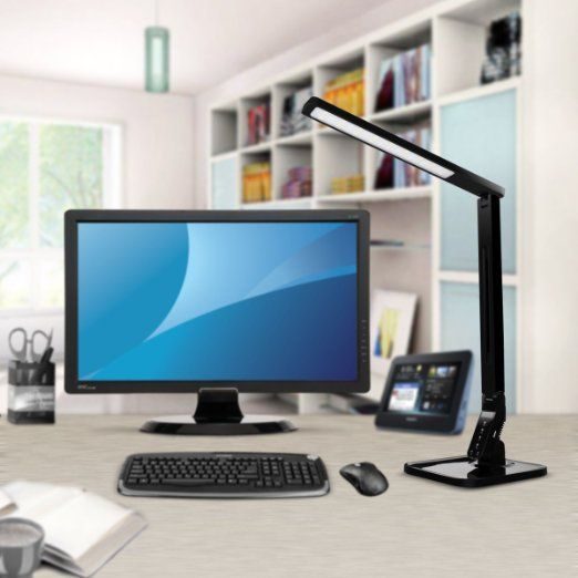 Taotronics Elune Tt Dl01 Dimmable Led Stylish Energy Efficient Desk Lamp With Multiple Features And Options Piano Black Dimmable Led Led Desk Lamp Desk Lamps