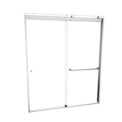 Redi Slide 3000V Series 48 in. W x 70 in. H Semi-Frameless Sliding Shower Door in Polished Chrome with Single-Sided Towel Bar #framelessslidingshowerdoors