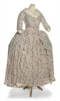 A LADY'S OPEN ROBE AND PETTICOAT OF WHITE LINEN   1770-1780S   Costume, Textiles & Fans Auction   women's, Textiles & Costume   Christie's