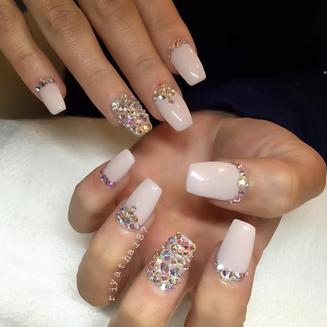 Fantastic Crystal Nails Collection - Nail Art Ideas - morihati.com