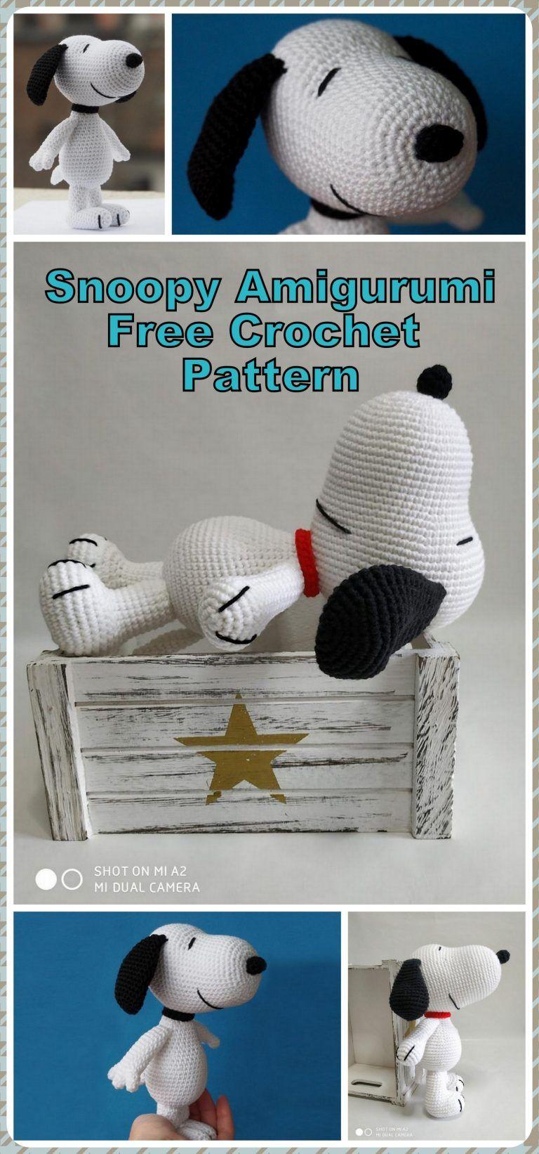 Amigurumi Dog Snoopy Free Crochet Pattern - Amigurumi Patterns #minioncrochetpatterns