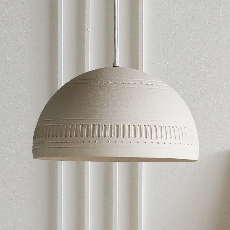 Bitossi Style Ivory Ceramic Pendant Light Ceramic Pendant Light
