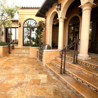Mediterranean villa tuscany gold versailles pattern for Mediterranean flooring
