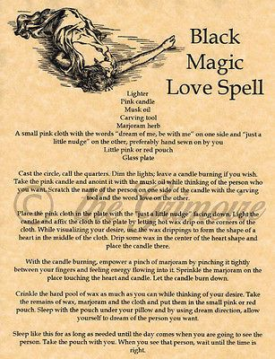 Details about Knot Magic Wish Spell 1pgParch fr Wicca Book