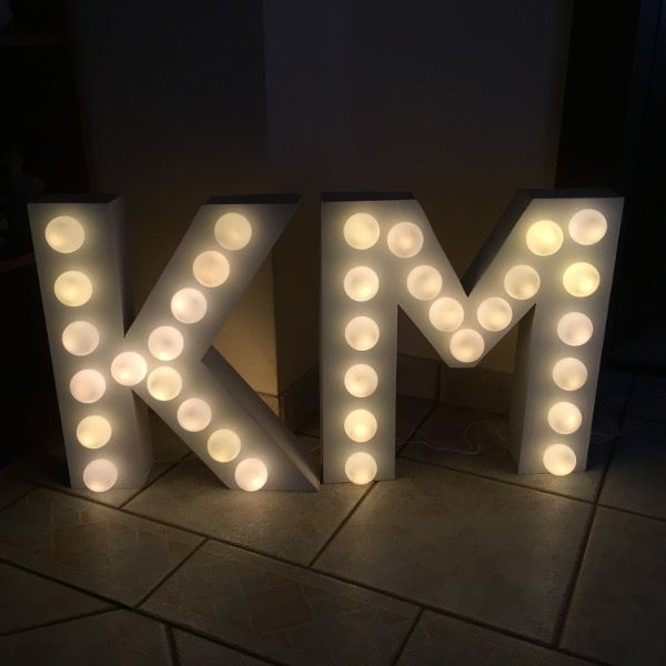 letter lights buchstabenleuchte buchstaben lampe whimsical wedding hochzeit diy see the. Black Bedroom Furniture Sets. Home Design Ideas