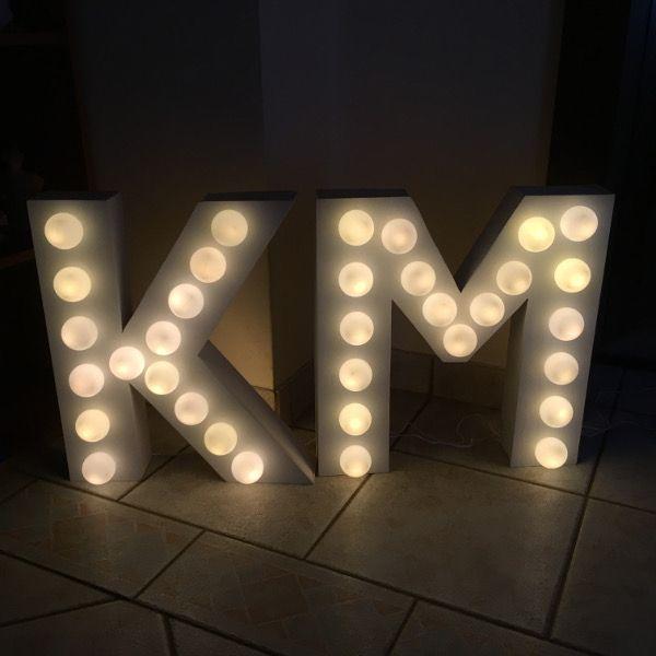 letter lights buchstabenleuchte buchstaben lampe whimsical wedding hochzeit diy see the. Black Bedroom Furniture Sets. Home Design Ideas