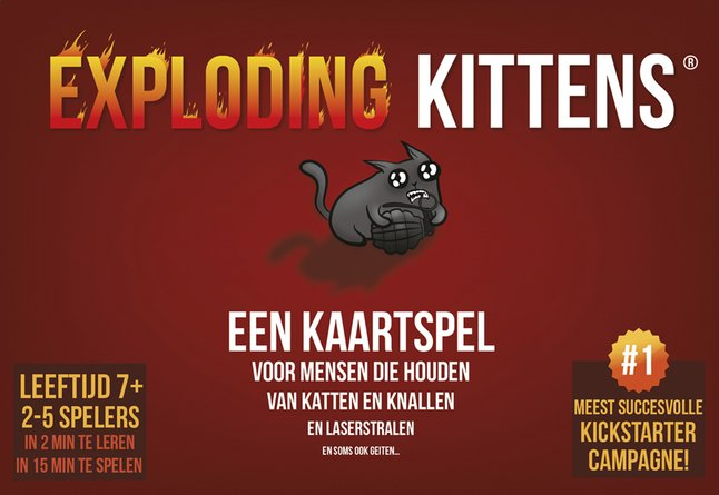Het te gekke spel Exploding Kittens is een combinatie van