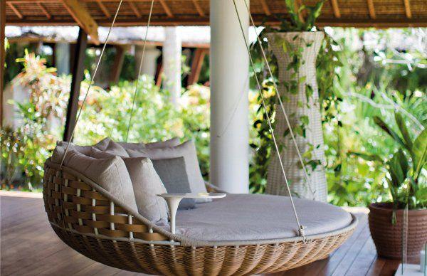 Swingrest Hanging Lounger Ippinka Outdoor Porch Bed Porch Swing Bed Outdoor Beds Outdoor porch bed swing round