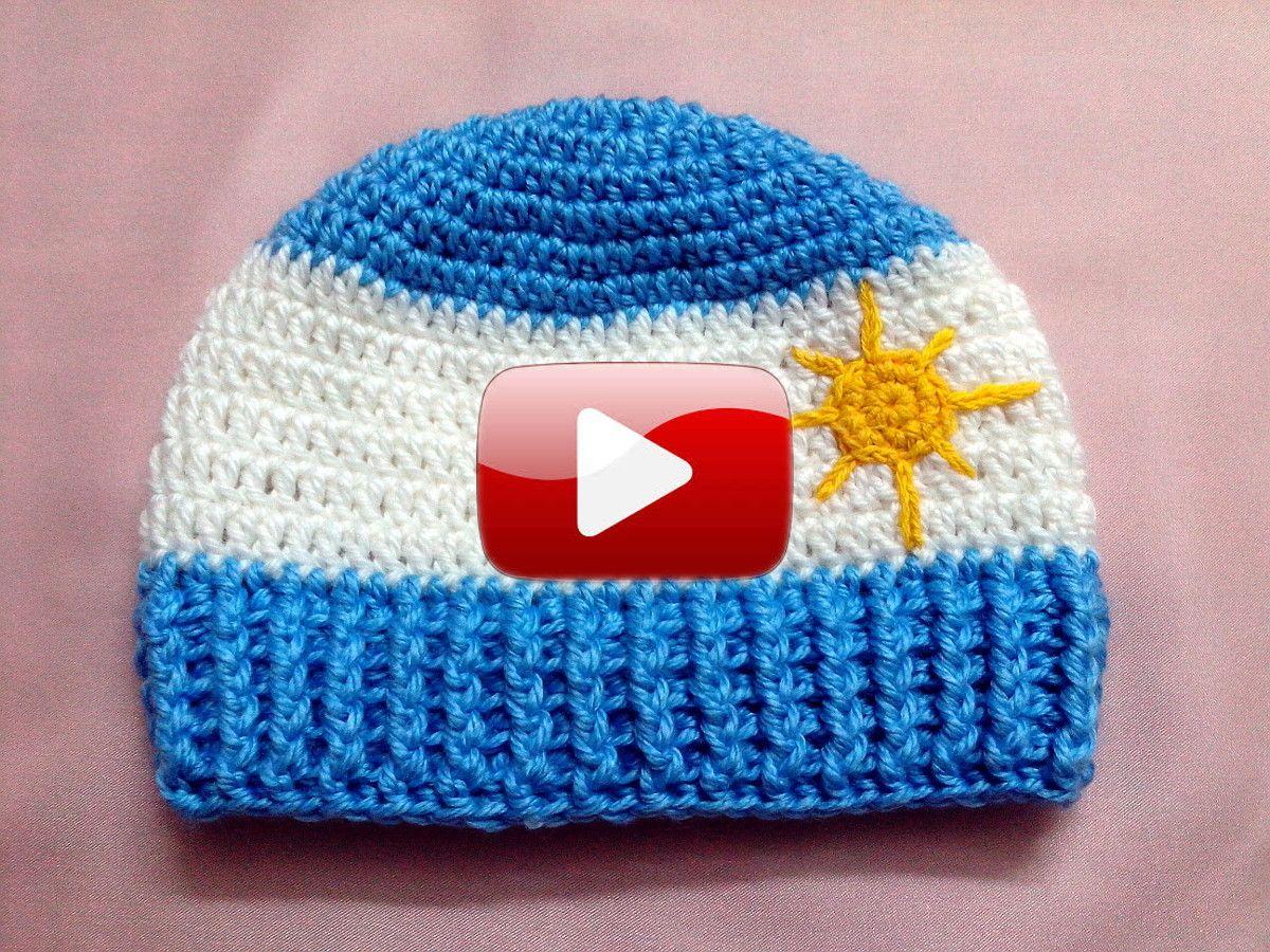 Gorro Argentino para niños en Tejido Crochet | juli | Pinterest ...