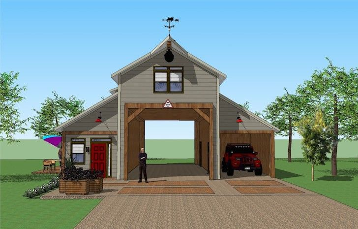 You Ll Love This Rv Port Home Design It S Simply Spectacular Carport Designs Rv Garage Garage With Living Quarters
