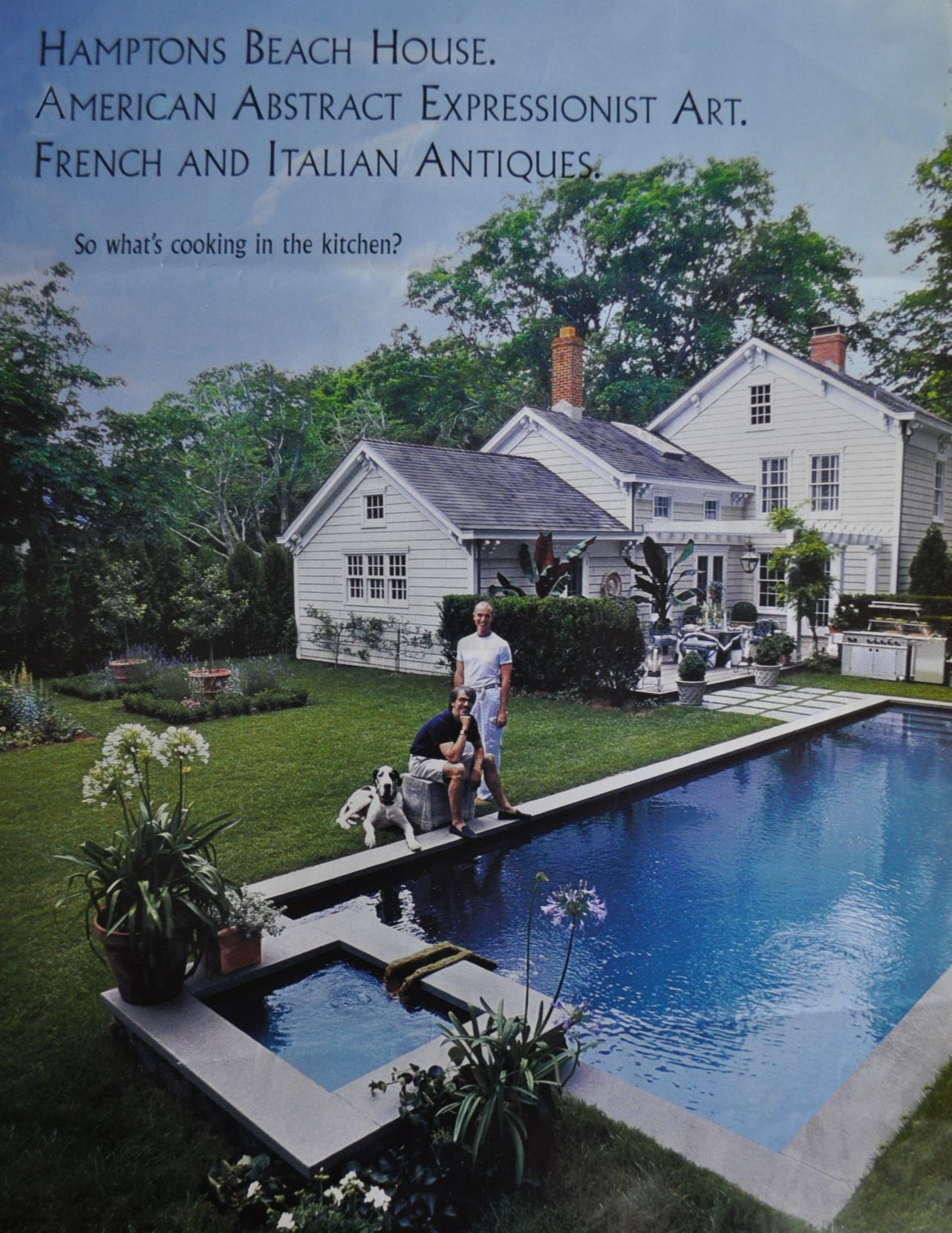 gorgeous pool in grass clap board exterior new england style