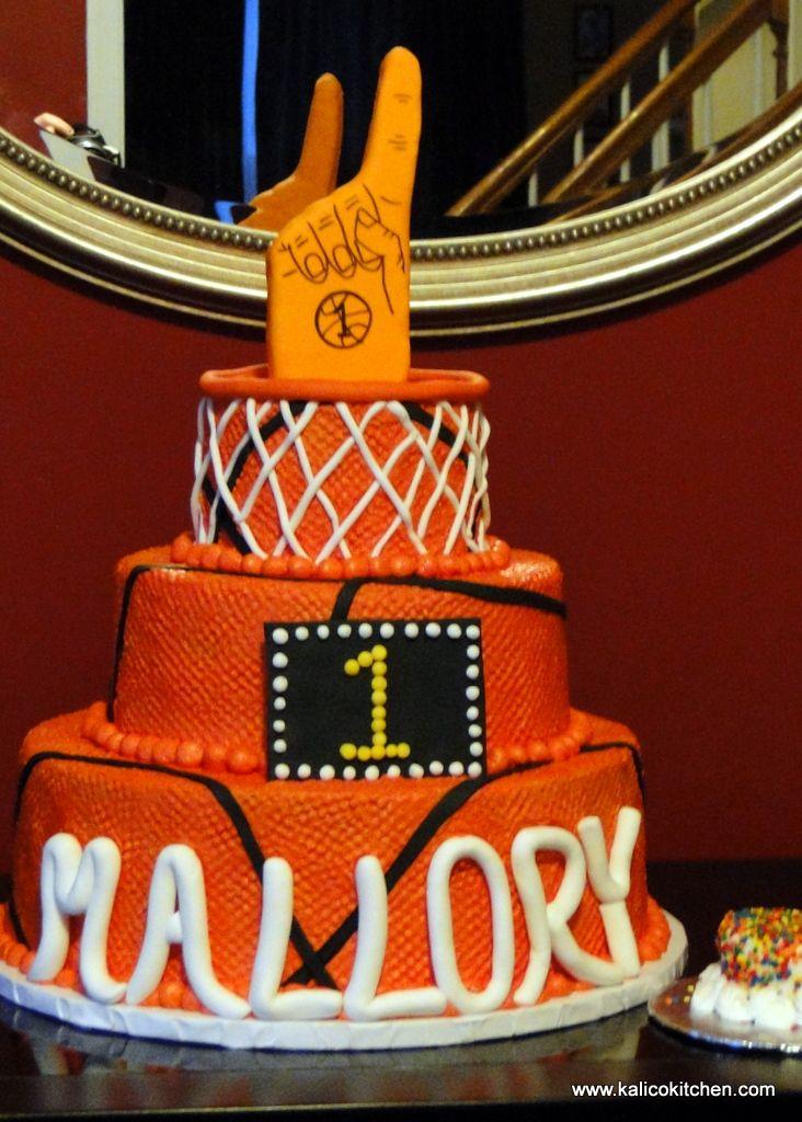 Terrific March Madness Inspired First Birthday Cake First Birthday Cakes Funny Birthday Cards Online Benoljebrpdamsfinfo