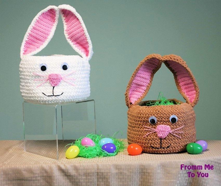 Crochet Easter Basket Free Patterns | Ostern, Selber machen und Häkeln