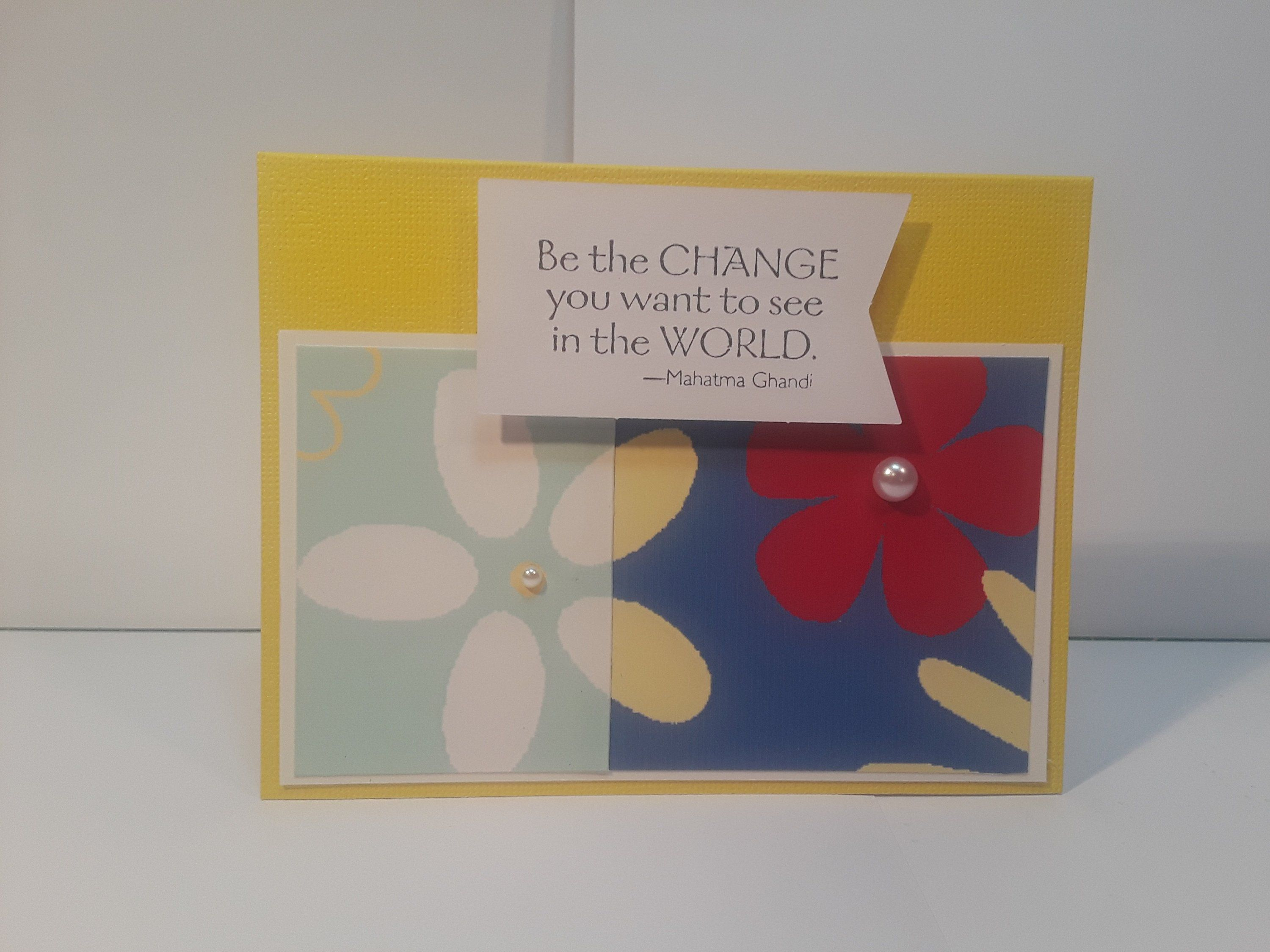 Handmade Greeting Card Inspirational Card Friendship And Family