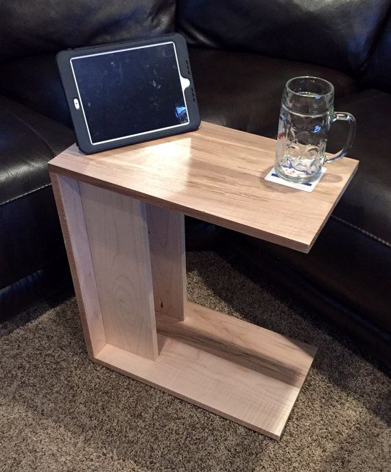 Handmade Wooden C Table By Wojowoodwerks On Etsy C Table