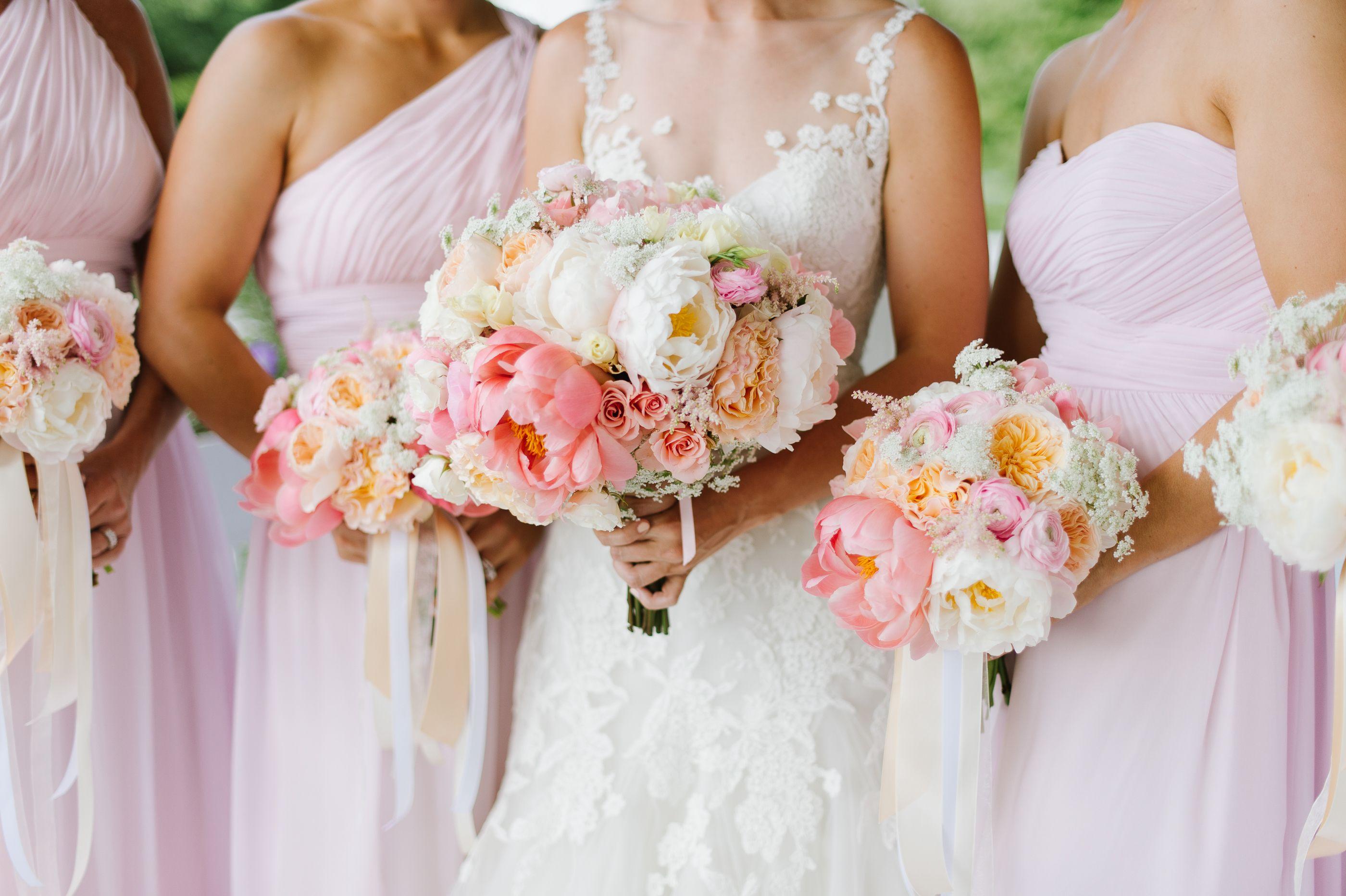 Pastel pink bridesmaid dress  Noelle u Mikeus Romantic Eastern Shore Wedding  DonnaMorgan