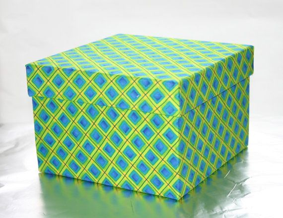 Small Decorative Box Clothcovered Box From Boxyboxes On Etsy Organized And
