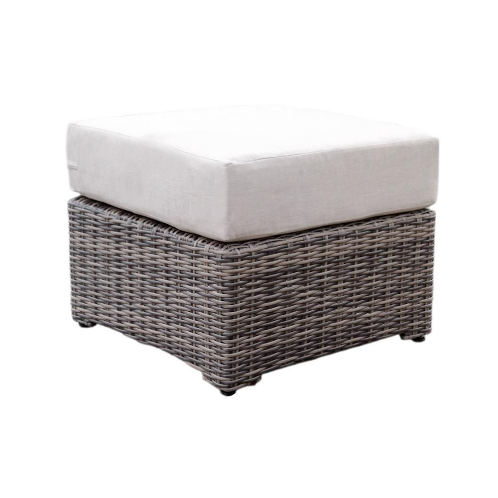 Fabulous Ae Outdoor Cherry Hill Patio Ottoman With Cast Ash Cushion Machost Co Dining Chair Design Ideas Machostcouk
