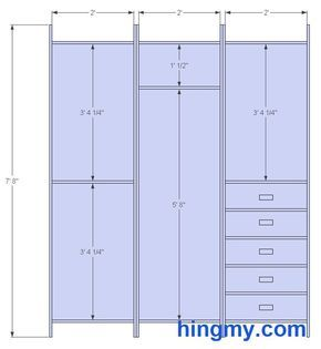 Standard Closet Measurements | This design is meant be as ...