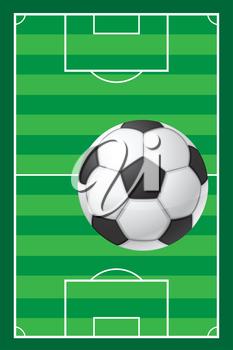 Iclipart Clip Art Illustration Of A Soccer Field And Ball Sports Clipart Illustration Soccer Fun Run Clip Art