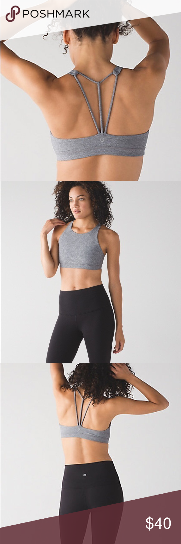 7acfe1b7ff Lululemon Trinity Bra II - Heathered Slate Brand new with  detached tags !  Never ended up wearing this. Will include original tag.