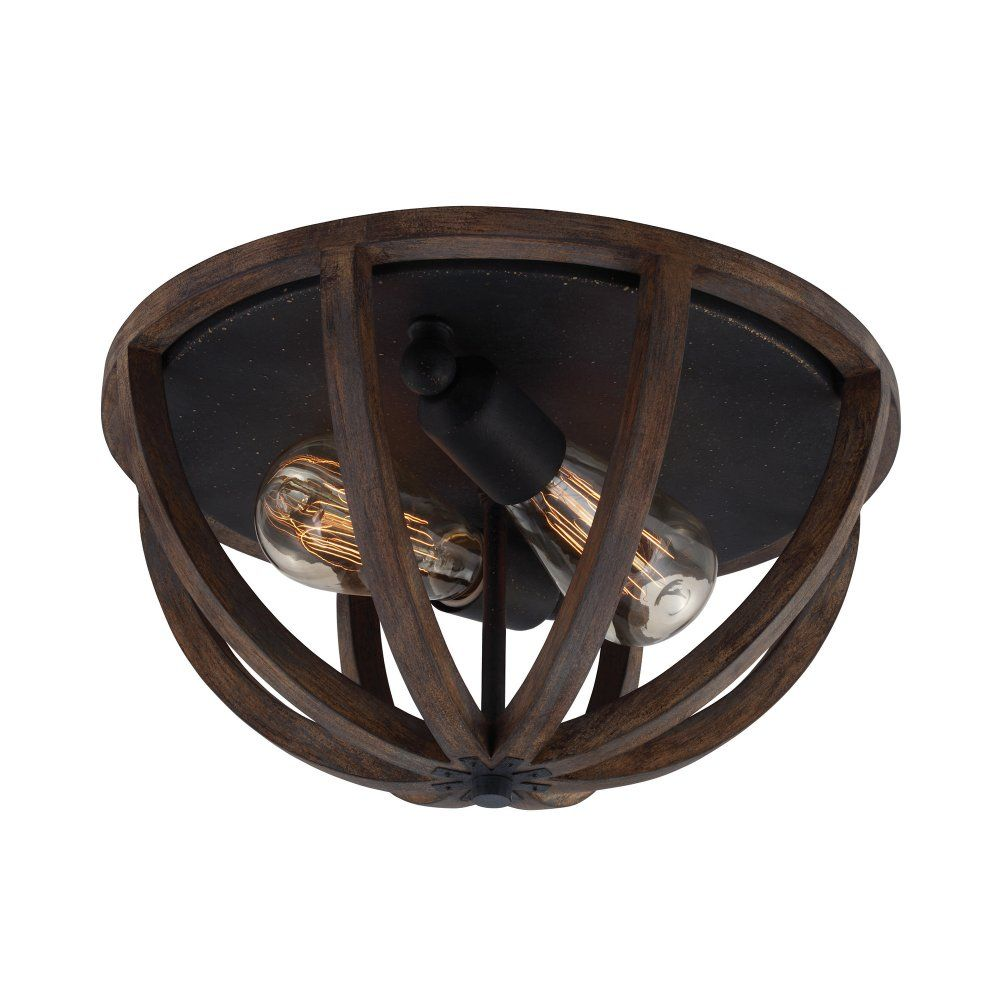 Allier Rustic Flush Mount Dark Oak Wood Ceiling Light Wood Ceiling Lights Flush Mount Ceiling Lights Farmhouse Lighting