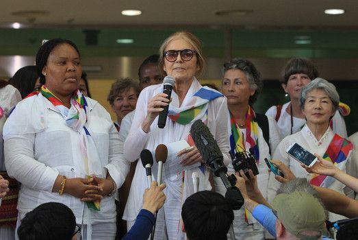 cool Gloria Steinem participates in peace march to North Korea Check more at http://worldnewss.net/gloria-steinem-participates-in-peace-march-to-north-korea/