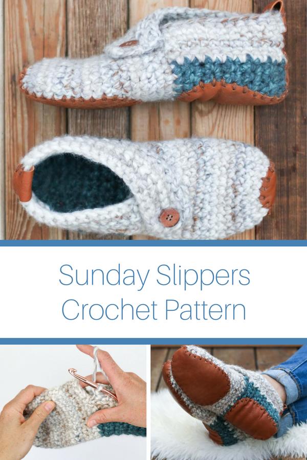 Sunday Slippers | Crochet | Pinterest | Calcetines de lana, Lana y ...