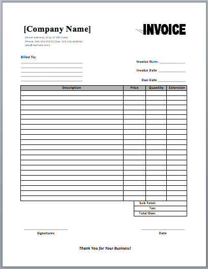 Commercial Invoice Template  Templates    Template